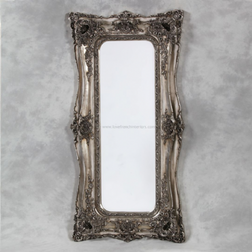 Classic Styled Silver French Slim Mirror